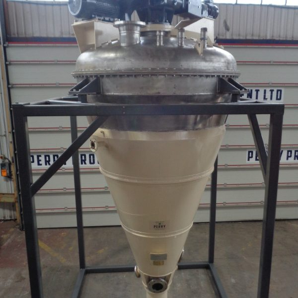 Refurbished 2,000 Litre Nauta MBXU-20RVW 321 Stainless Steel Conical Vacuum Mixer/Dryer,
