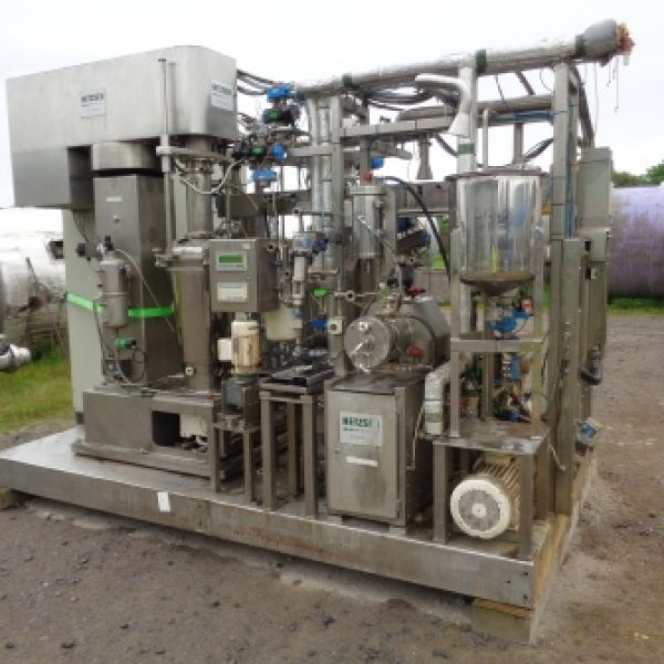 Used 50 Litre Netzsch Model PMD Pharma 50 Stainless Steel Pre-Mix Disperser